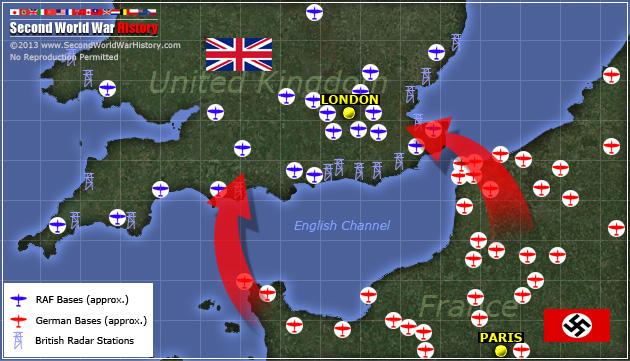 Battles of Ww2 Map Battle of Britain Ww2 Map